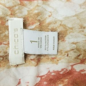 Chico's Tops - Chico's Sz 1 (M) Rust/Orange Python/Snake print T